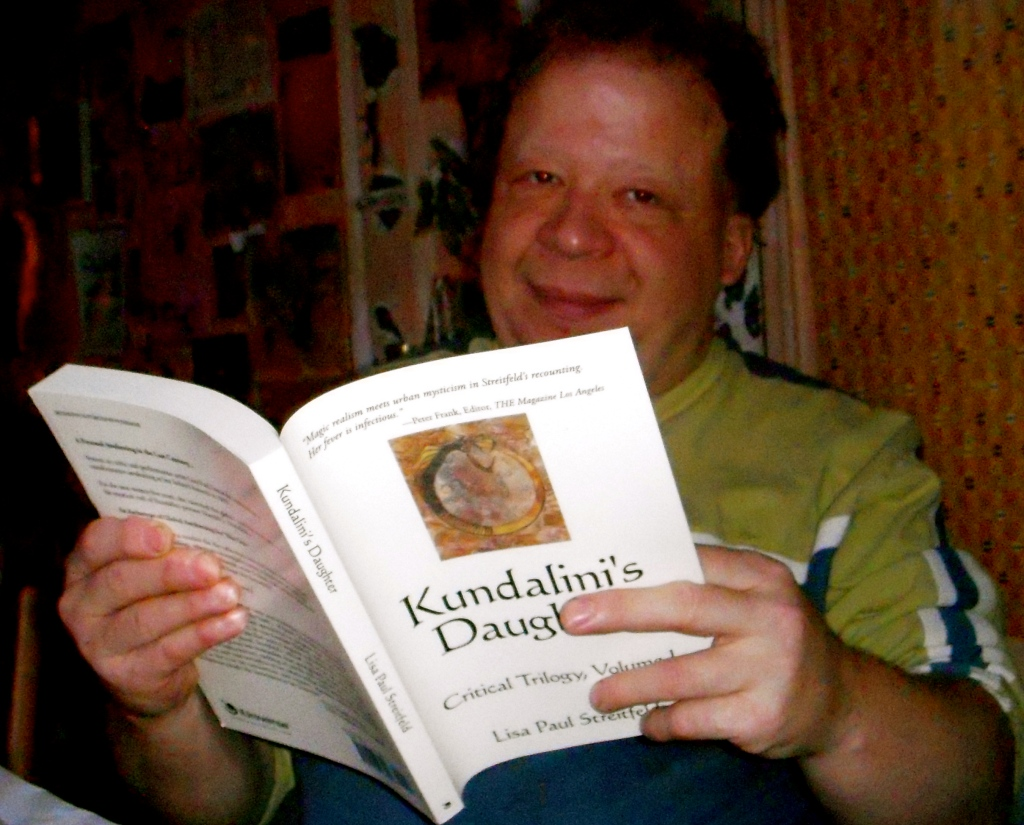 "Aaron Olshan reading about himself in ""Kundalini's Daughter"""