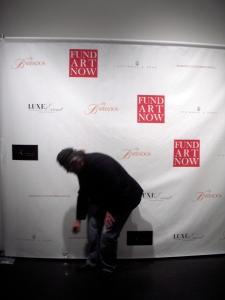 Anton Kandinsky beating a hasty retreat from the spotlight