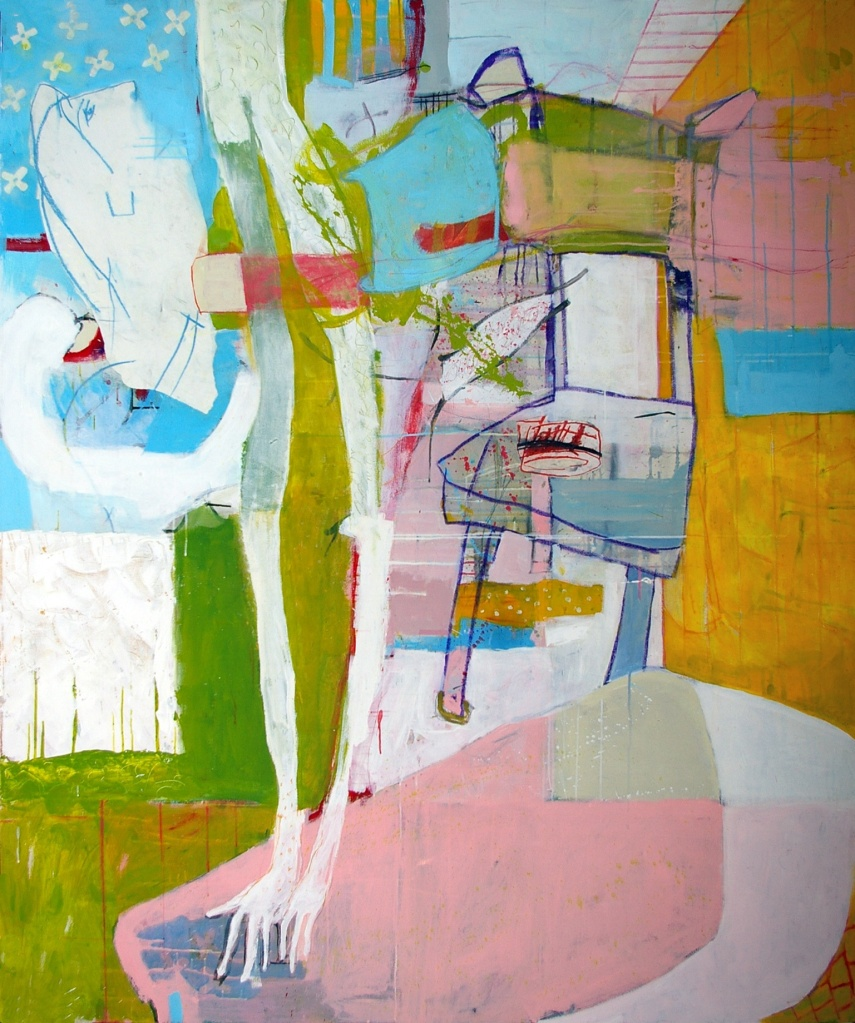6. michael manning the plumber 70 x 60 acrylic and oil stick on canvas-1